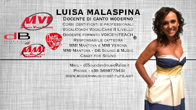 Luisa Malaspina - Docente di canto moderno